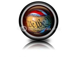 America Baseball PowerPoint Icon Cc