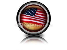 America Flag PowerPoint Icon Cc