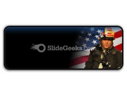 American Firefighter PowerPoint Icon R