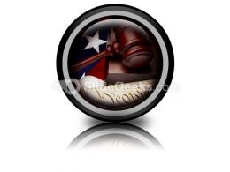 American Justice PowerPoint Icon Cc