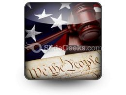 American Justice PowerPoint Icon S