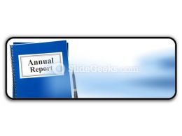 Annual Report PowerPoint Icon R
