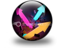 Arrows Breaking PowerPoint Icon C