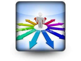 Arrows Of Opportunity PowerPoint Icon S
