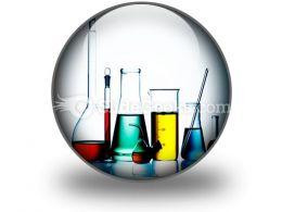 Assorted Laboratory Glassware PowerPoint Icon C