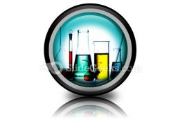 Assorted Laboratory Glassware PowerPoint Icon Cc