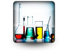 Assorted Laboratory Glassware PowerPoint Icon S