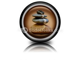 Balanced Pebbles PowerPoint Icon Cc