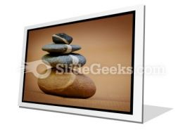 Balanced Pebbles PowerPoint Icon F