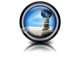 Balanced World PowerPoint Icon Cc