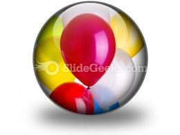 Balloons PowerPoint Icon C