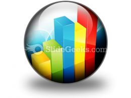 Bar Graph PowerPoint Icon C