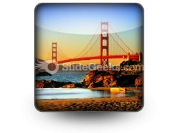 Beach San Francisco PowerPoint Icon S