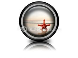 Beach Starfish PowerPoint Icon Cc