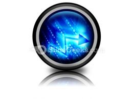 Blue Data Space PowerPoint Icon Cc