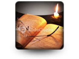 Book Candle PowerPoint Icon S