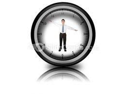 Business Clock PowerPoint Icon Cc