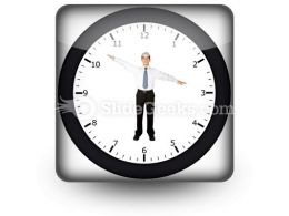 Business Clock PowerPoint Icon S