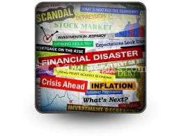 Business Financial Disaster PowerPoint Icon S