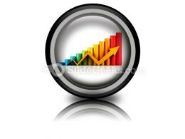 Business Graph With Arrow PowerPoint Icon Cc  Presentation Themes and Graphics Slide01