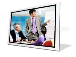 Business Group Listen PowerPoint Icon F