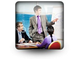 Business Group Listen PowerPoint Icon S