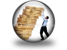Business Growth Coins PowerPoint Icon C
