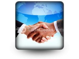 Business Handshake PowerPoint Icon S