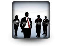 Business Team Icon S  Presentation Themes and Graphics Slide01