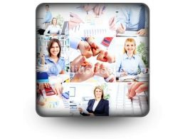 Business Woman Collage PowerPoint Icon S