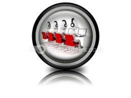Call Center PowerPoint Icon Cc