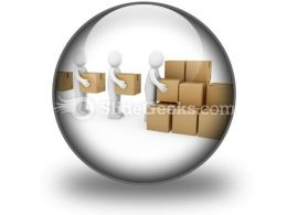 Carton Package Shipping PowerPoint Icon C