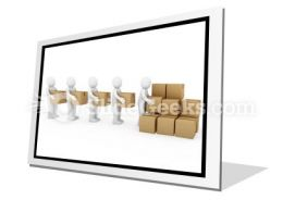 Carton Package Shipping PowerPoint Icon F
