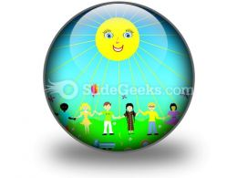 Children Poster PowerPoint Icon C