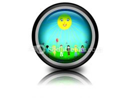 Children Poster PowerPoint Icon Cc