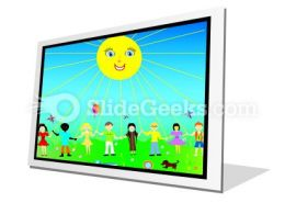 Children Poster PowerPoint Icon F