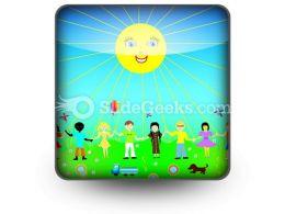 Children Poster PowerPoint Icon S
