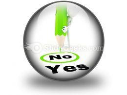 Choose Between Yes And No PowerPoint Icon C
