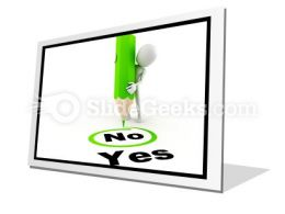 Choose Between Yes And No PowerPoint Icon F