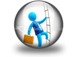 Climbing To Success Ppt Icon For Ppt Templates And Slides C