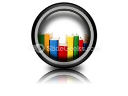 Colorful Books In Row Ppt Icon For Ppt Templates And Slides Cc