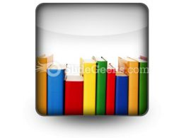 Colorful Books In Row Ppt Icon For Ppt Templates And Slides S