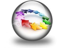 Colorful Circular Arrows PowerPoint Icon C