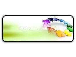 Colorful Circular Arrows PowerPoint Icon R