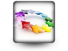 Colorful Circular Arrows PowerPoint Icon S