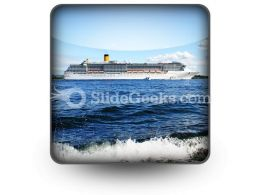 Cruise Ship PowerPoint Icon S  Presentation Themes and Graphics Slide01