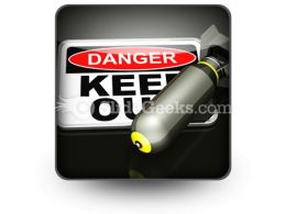 Dangerous Area PowerPoint Icon S