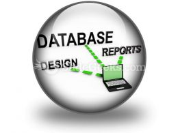 Database System PowerPoint Icon C
