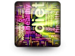 Diet Word PowerPoint Icon S