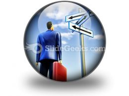 Directions To Choose PowerPoint Icon C  Presentation Themes and Graphics Slide01